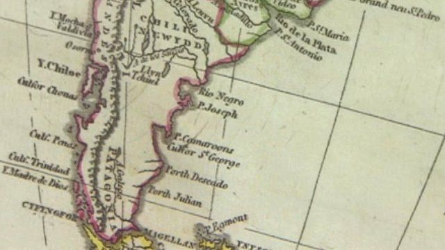 19th Century Welsh-language map of South America