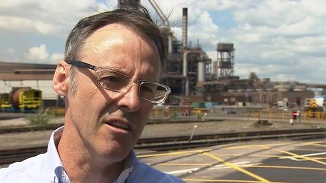 Alan Coombs, union official at Tata Steel in Port Talbot