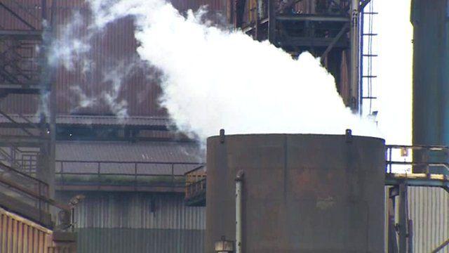 Tata steel plant in Port Talbot