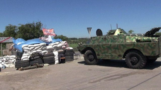 Fighting has broken out around Donetsk