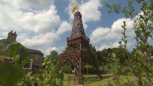 A replica Eiffel Tower