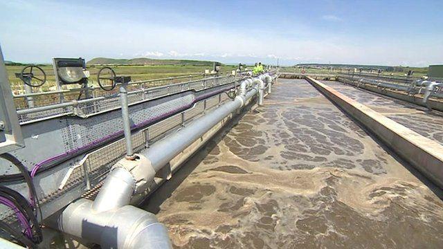 Weston-super-mare sewage treatment works