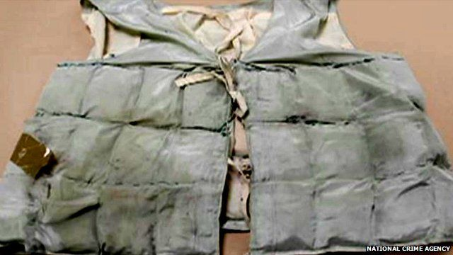 Waistcoat made from drug pouches