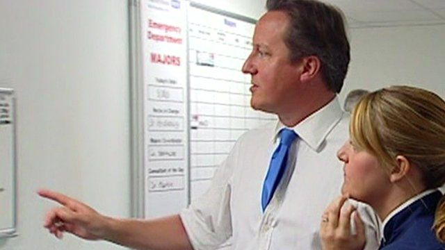 David Cameron visiting hospital