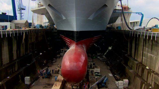 HMS Queen Elizabeth at Rosyth
