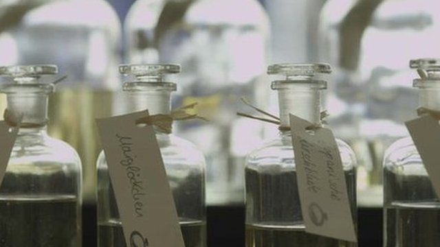 Bottles of scent at MyParfum