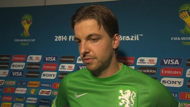 Tim Krul was the hero for the Netherlands - watch what he thought after the match.