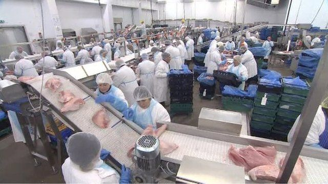 The new jobs will be in various parts of the business, from food processing to management and financial services