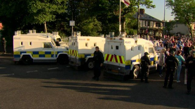 The issue of parades in Northern Ireland was being discussed at Stormont