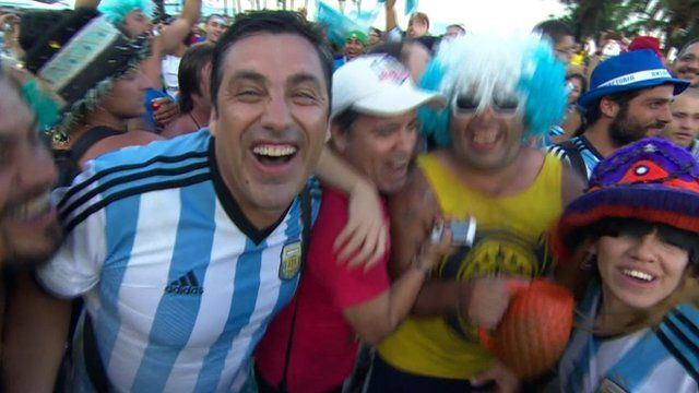 Argentina fans in Buenos Aires