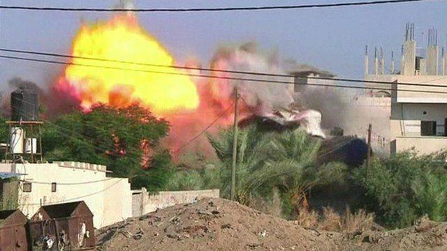 Israeli air raid on Gaza