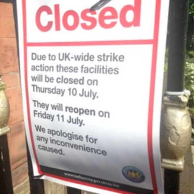 Strikes: Thousands of Northern Ireland public sector workers take action