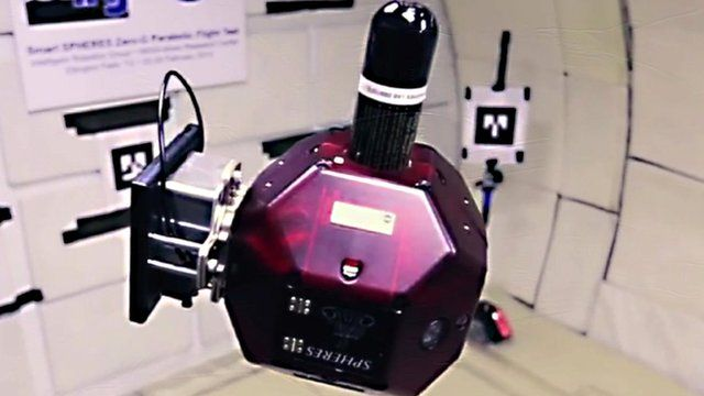 A Nasa Sphere (Synchronised Position Hold, Engage, Reorient, Experimental satellites) robot