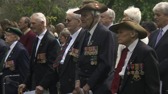 Former soldiers at the ceremony in York