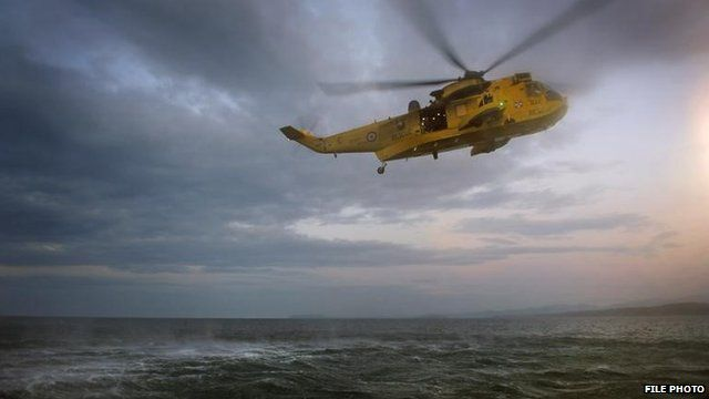Squdron attending an exercise(Yellow Scorpion) out on the sea working with the RNLI.