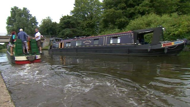 Narrowboats on Nottingham's waterways