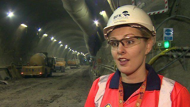 Crossrail engineer Olivia Perkins