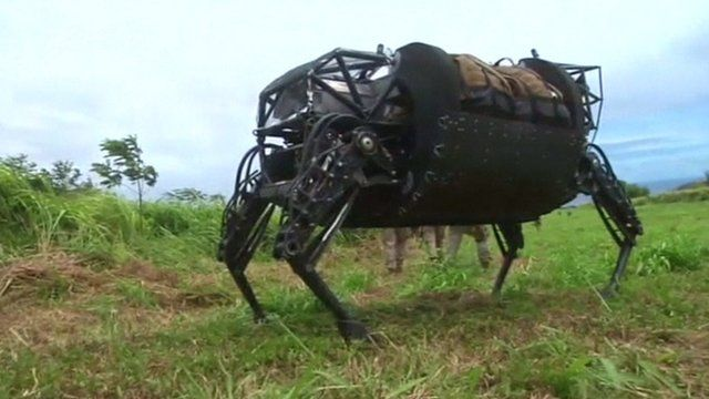 The Legged Squad Support System (LS3), or robotic mule, in Hawaii