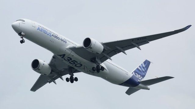 An Airbus A350-900