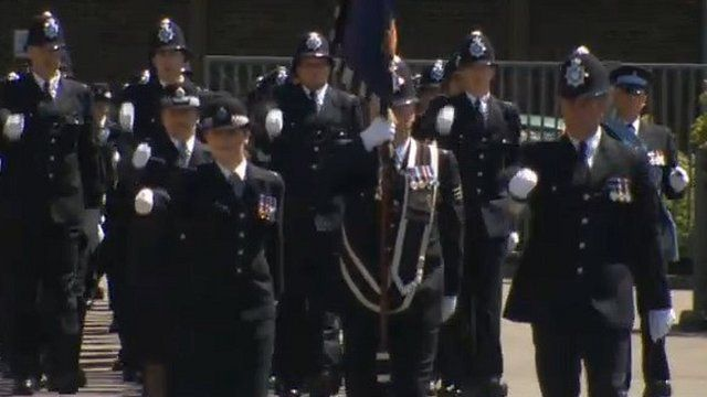 New recruits on parade