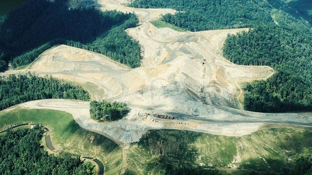 Aerial of Cook Mountain