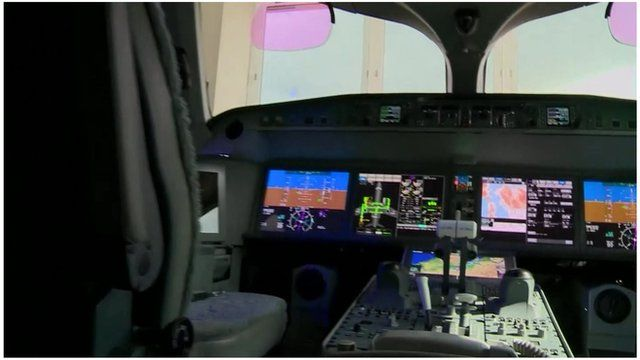 Bombardier cockpit