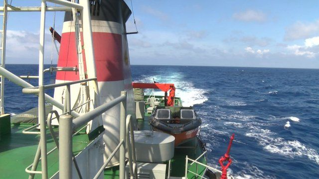On board a Vietnamese Coast Guard vessel
