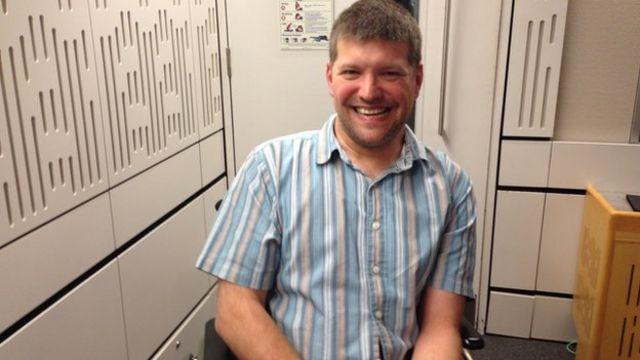 Laurence Clark in the studio