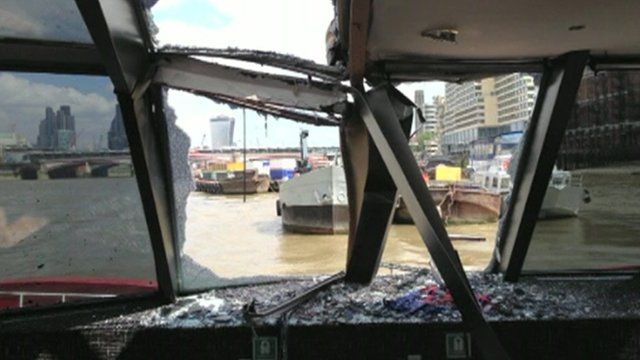 Damaged caused by crash