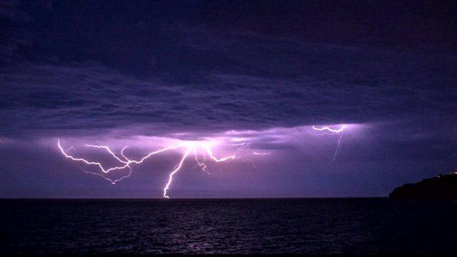 Lightning on the South coast