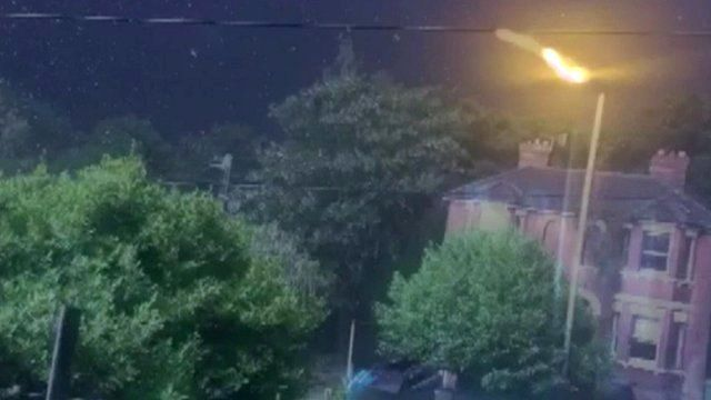 view from Susannah Ford-Crush's window as the lightning struck