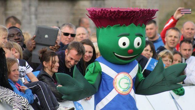 Clyde the mascot of Glasgow 2014