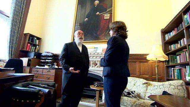 Sir Robert Rogers with Jo Coburn