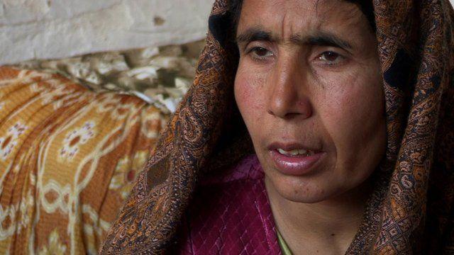 Afghan war widow Tajbibe