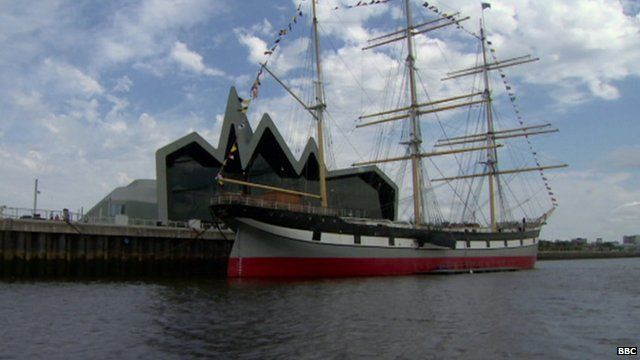 Ship on the River Clyde
