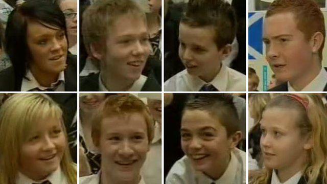 Eight St Mungo's Academy pupils in 2007