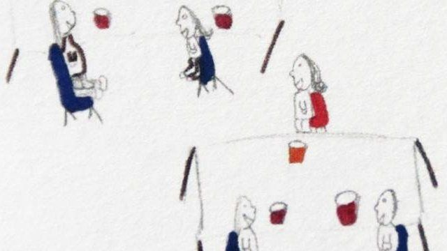 A child's drawing of their parents in prison