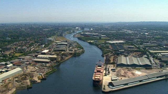 Aerial view of the Clyde