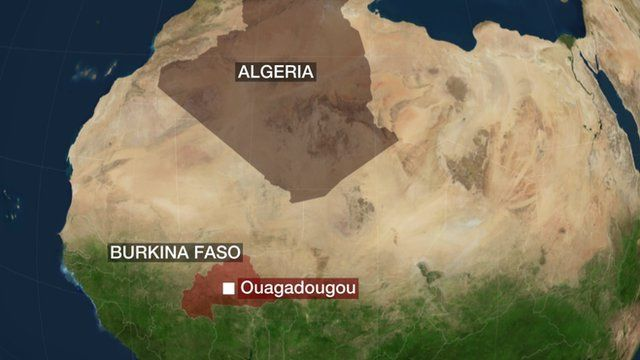 Map of showing route of missing Air Algerie plane