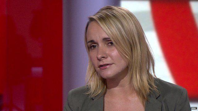 Save the Children spokeswoman, Cat Carter