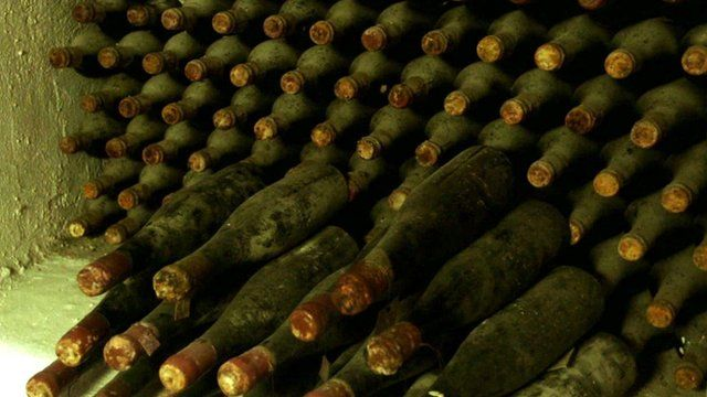 A wine collection which once belonged to Hermann Goering