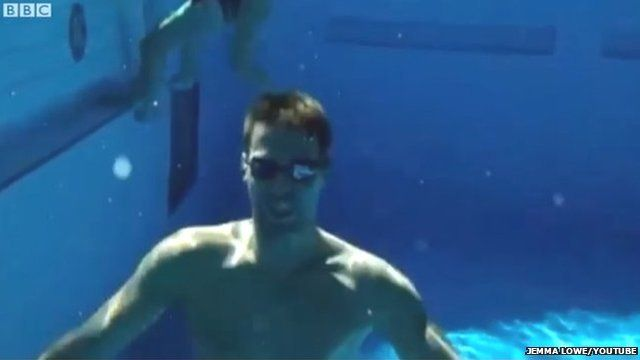 Swimmer from video