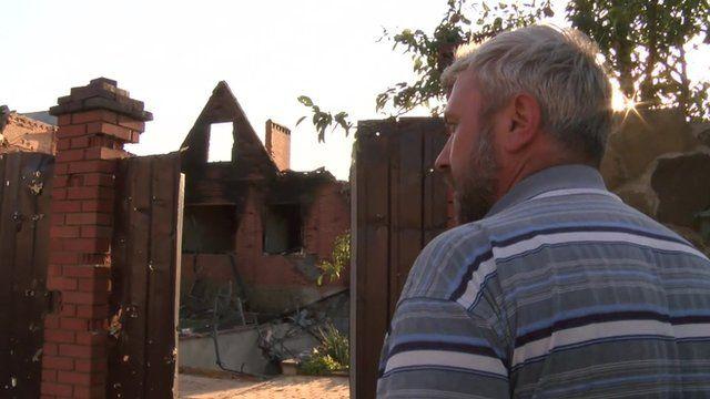Sergei Vaynagiya returns to his Sloviansk house