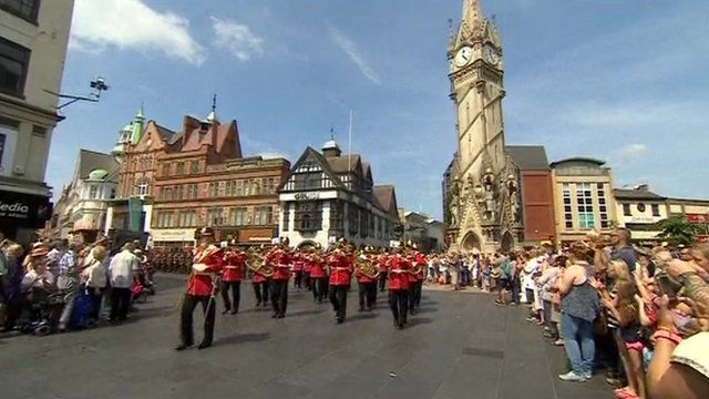 Royal Anglian Regiment in Leicester on 25 July 2014