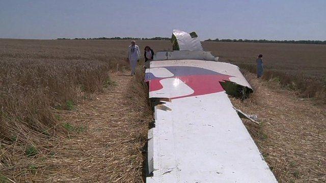 Debris of flight MH17