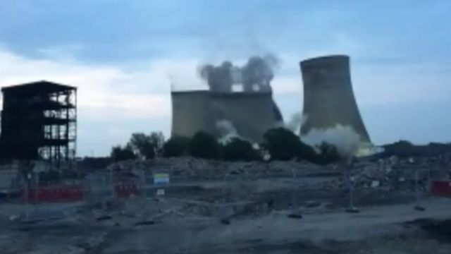 Didcot power towers demolition