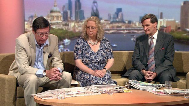 Max Hastings, Olly Grender and Dominic Grieve