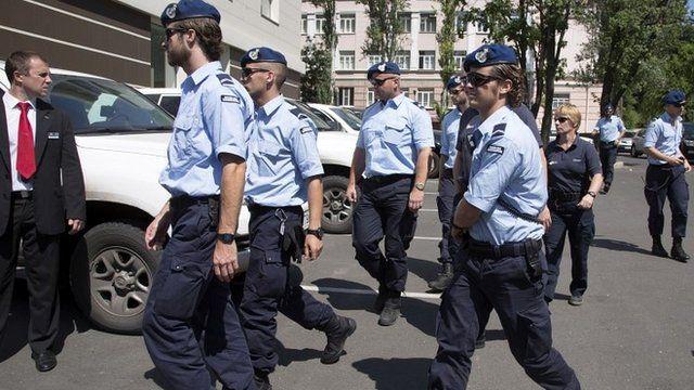 Dutch police in Donetsk