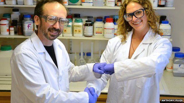 Dr Dave Whitworth and PhD student Sara Mela
