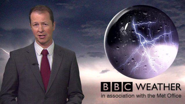 Darren Bett and weather graphic